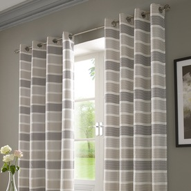 Moda Ready Made Lined Voile Eyelet Curtains