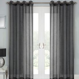 grey curtains for bedroom. Jazz Ready Made Eyelet Voile Panel Bedroom Curtains  View Terrys Fabrics