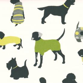 Mans Best Friend Curtain Fabric