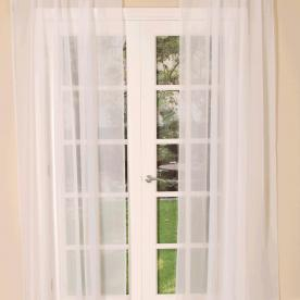 Slot Top Voile Single Curtain Panel