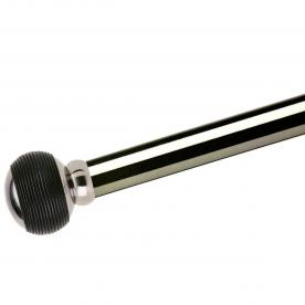Swish Black Leather Rope 28mm Curtain Pole