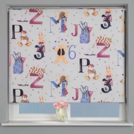 Alphabet Blackout Roller Blind