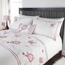 Magnolia Embroidered Duvet Cover