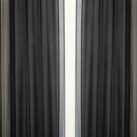Onyx Voile Curtain Panel