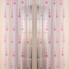 Seville Embroidered Voile Curtain Panel