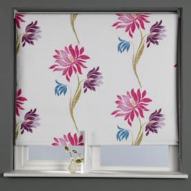 Lotus Flower Blackout Roller Blind