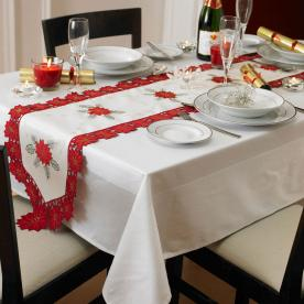 Poinsettia Table Linen